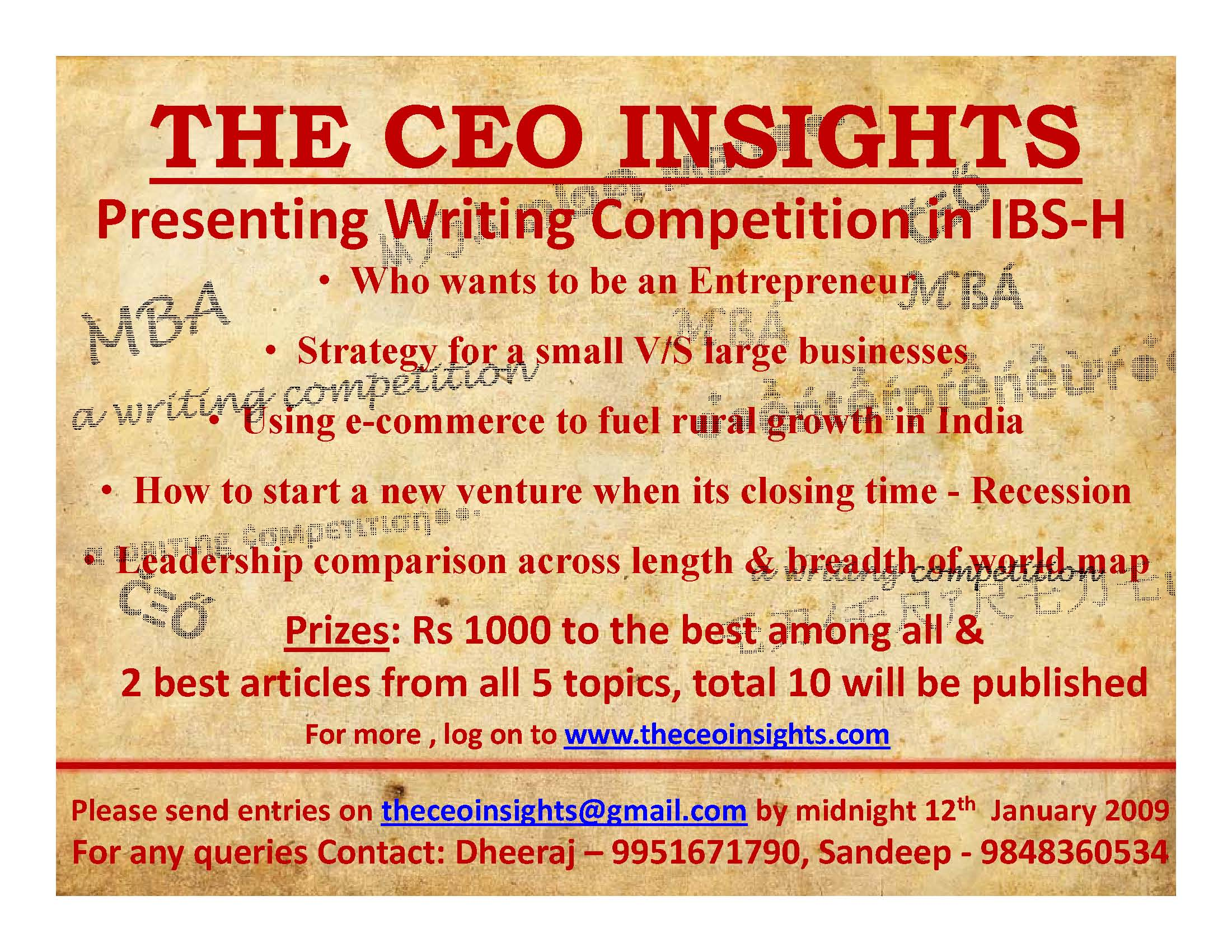 IBS-H Competition